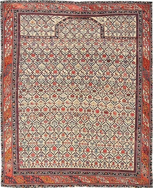 antique muslim prayer rug #43907 by nazmiyal