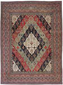 Antique Persian Kerman Rug 3403 Detail/Large View