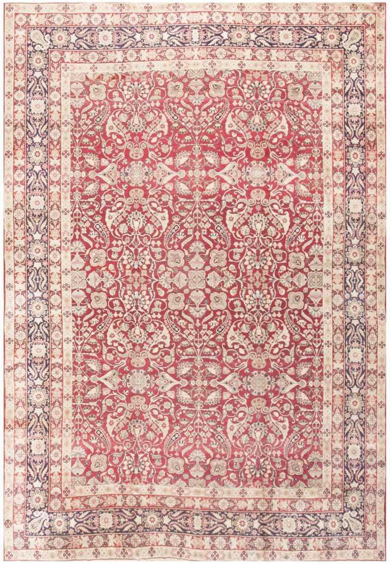 Fine Red Antique Floral Kerman Rug 50370 Nazmiyal