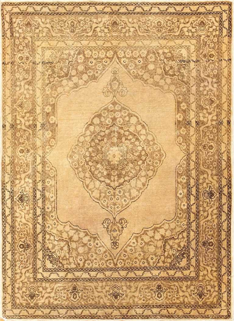 Fine Scatter Size Antique Persian Tabriz Rug 50401 Nazmiyal