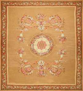 Large Antique French Aubusson Carpet 50430 Nazmiyal