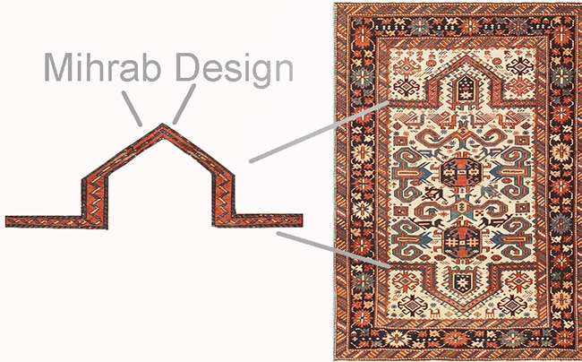 Mihrab Design Islamic Antique Muslim Prayer Rugs Nazmiyal