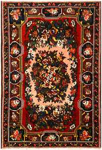 Red Semi Antique Persian Bakhtiari Rug 50439 Nazmiyal