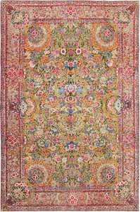 saffron yellow antique persian kerman rug 48659 Nazmiyal
