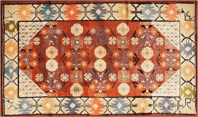 Silk Khotan Oriental Rug by nazmiyal