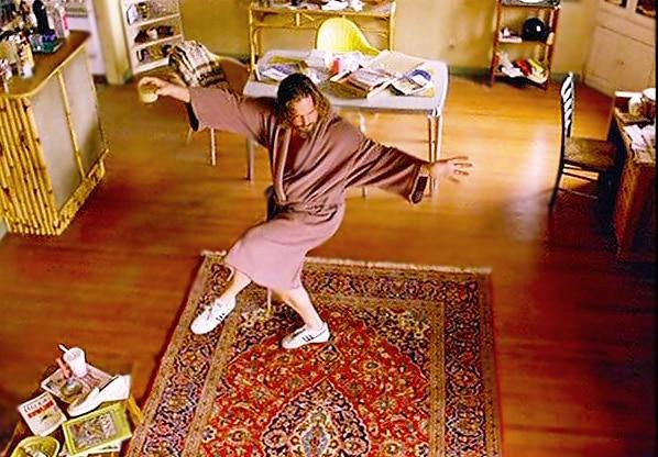The Big Lebowski Dancing On His Oriental Rug by Nazmiyal