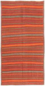 Vintage Turkish Kilim Rug 50383 Detail/Large View