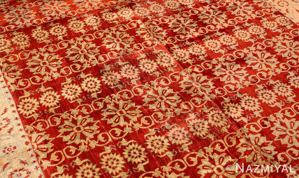 antique 17th 18th century mughal velvet textile 40596 part Nazmiyal