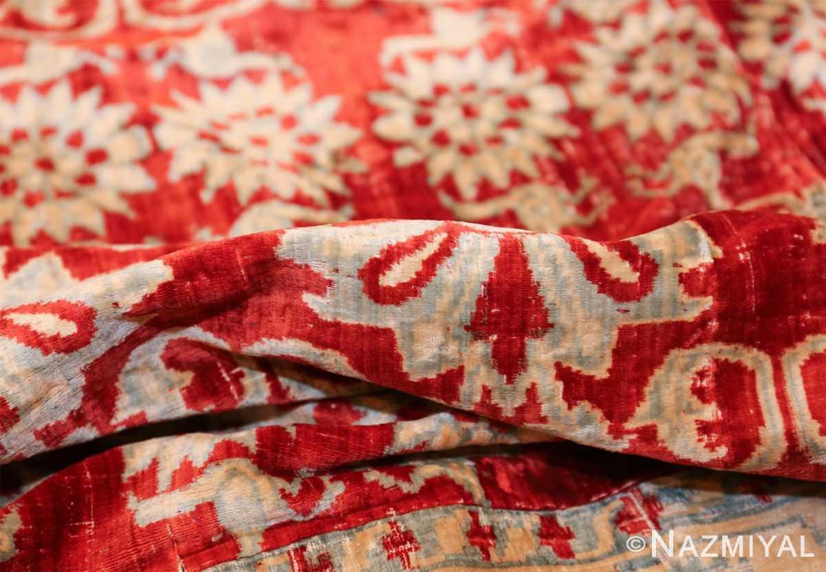 antique 17th 18th century mughal velvet textile 40596 pile Nazmiyal