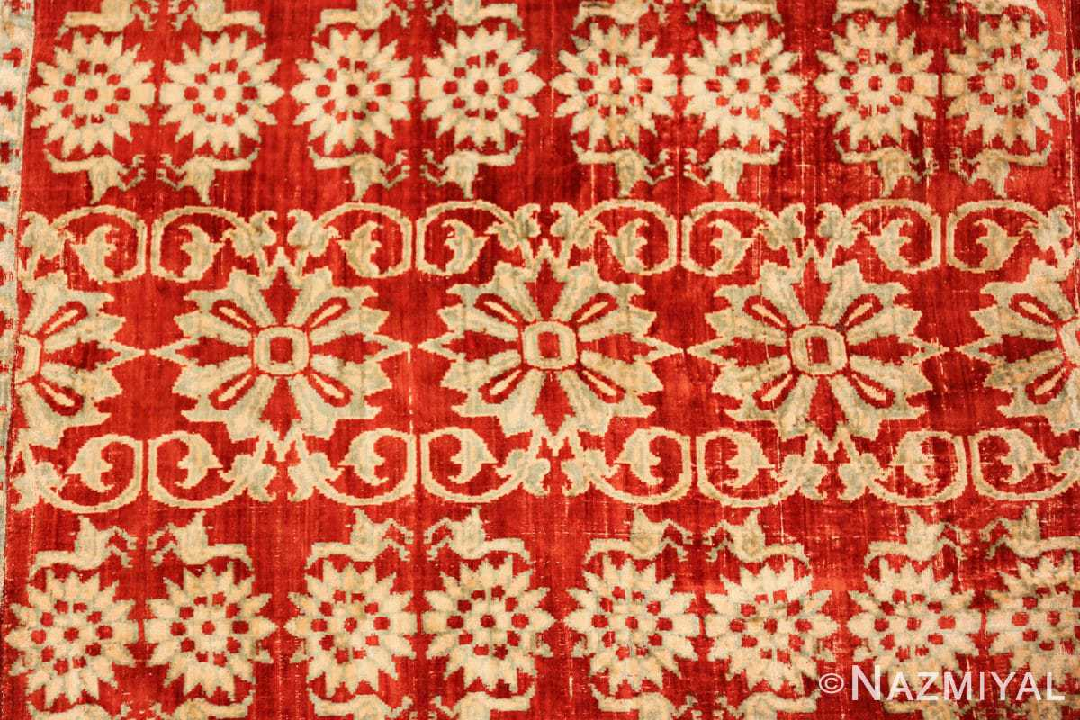 antique 17th 18th century mughal velvet textile 40596 rows Nazmiyal