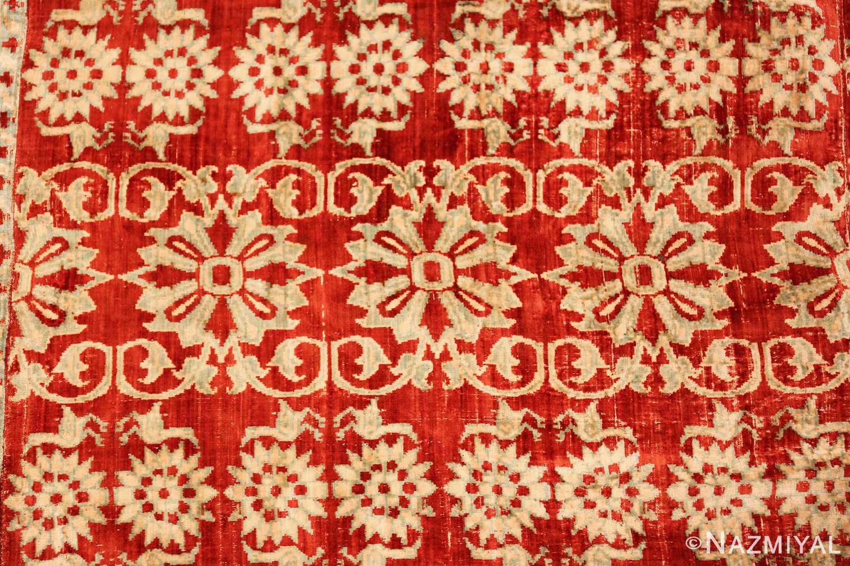 antique 17th 18th century mughal velvet textile 40596 rows Nazmiyal