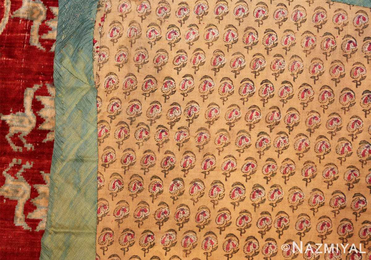 antique 17th 18th century mughal velvet textile 40596 weave Nazmiyal