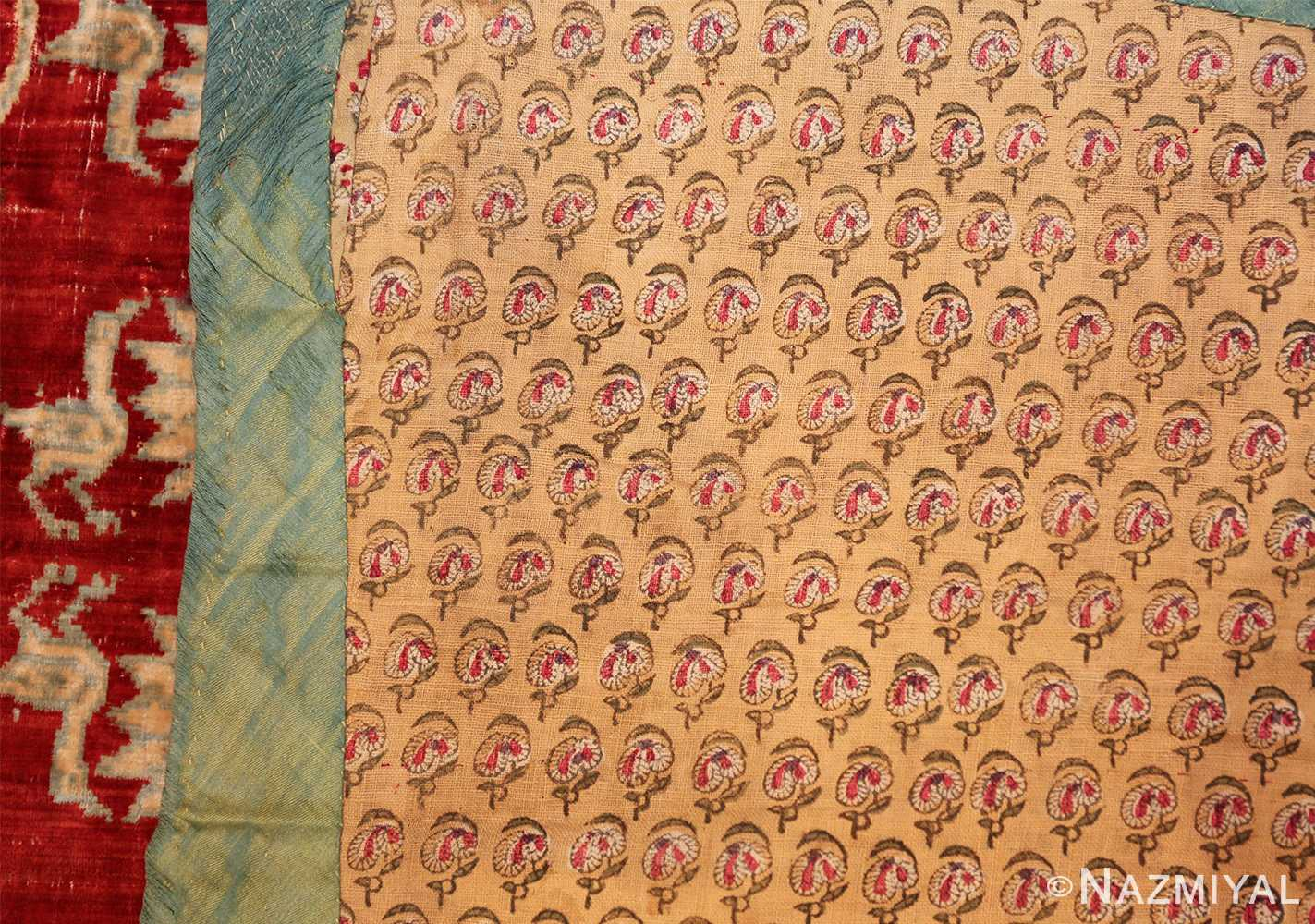 antique 17th 18th century mughal velvet textile 40596 weave Nazmiyal