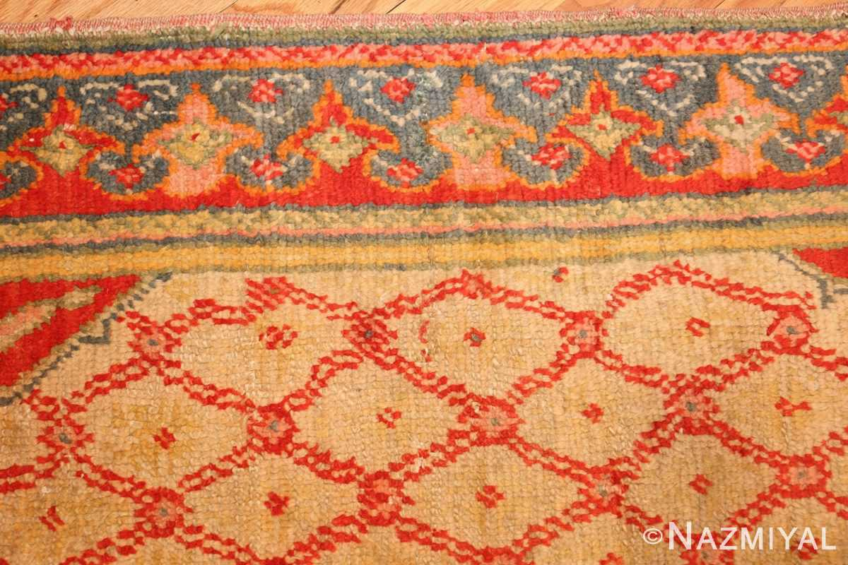 antique arts and crafts turkish oushak runner rug 48675 border Nazmiyal