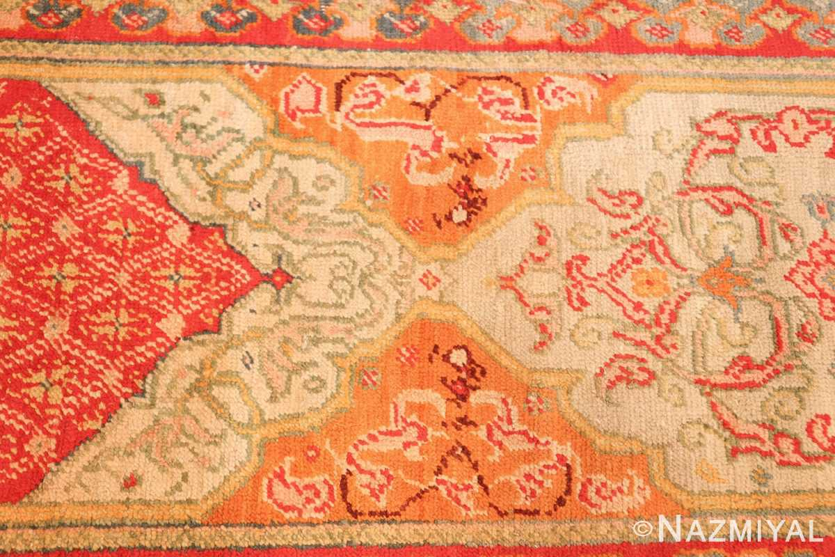 antique arts and crafts turkish oushak runner rug 48675 colors Nazmiyal