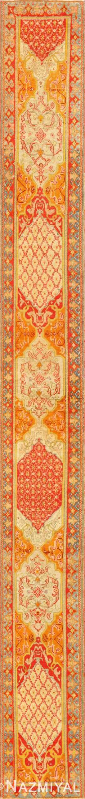 Antique Arts and Crafts Turkish Oushak Runner Rug 48675 Nazmiyal