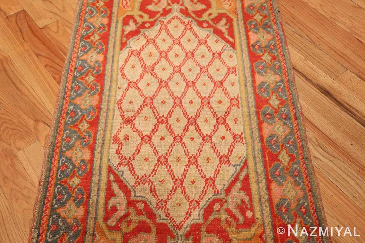 antique arts and crafts turkish oushak runner rug 48675 green Nazmiyal