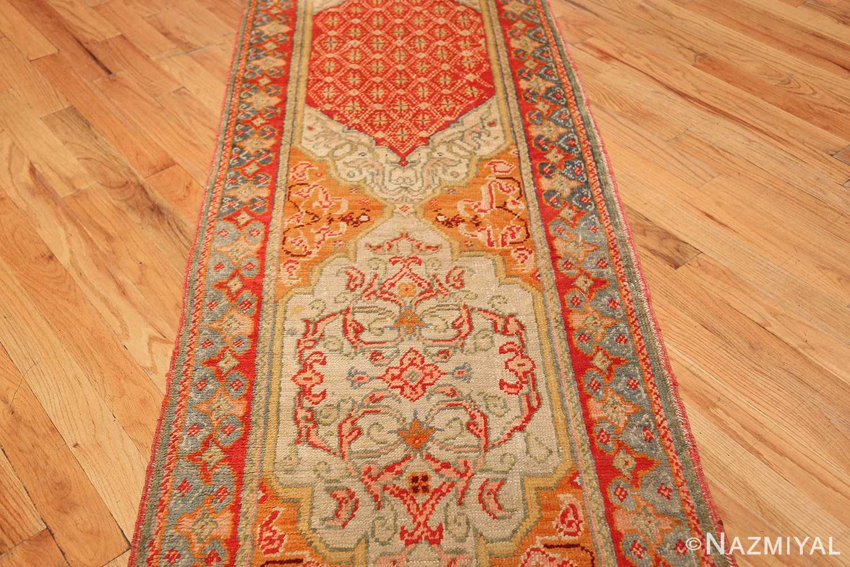 antique arts and crafts turkish oushak runner rug 48675 medallion Nazmiyal