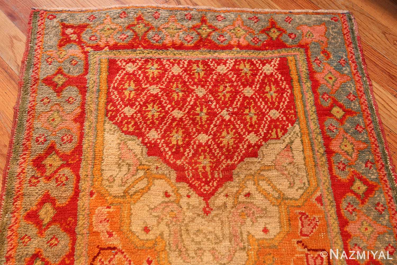 antique arts and crafts turkish oushak runner rug 48675 top Nazmiyal