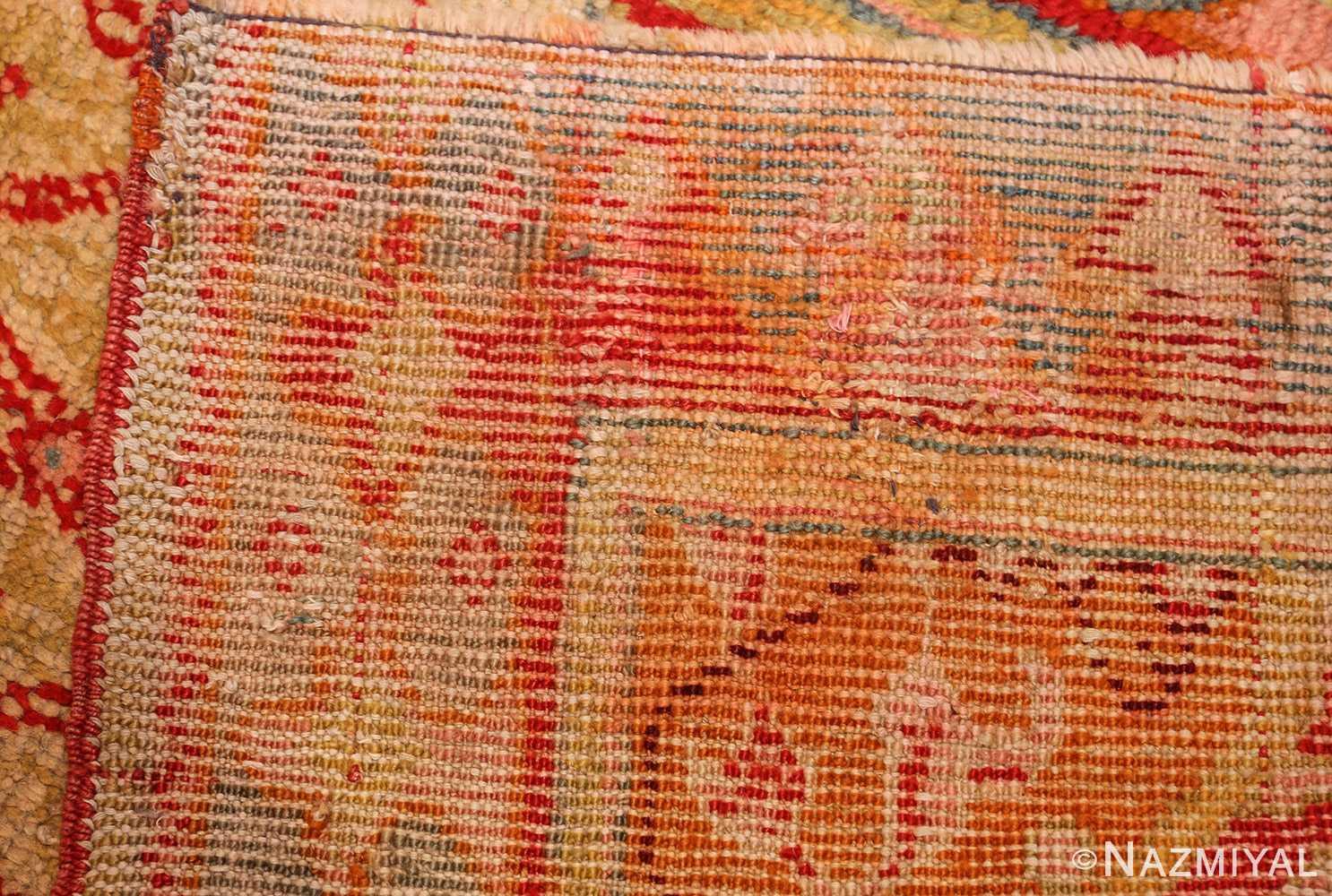 antique arts and crafts turkish oushak runner rug 48675 weave Nazmiyal