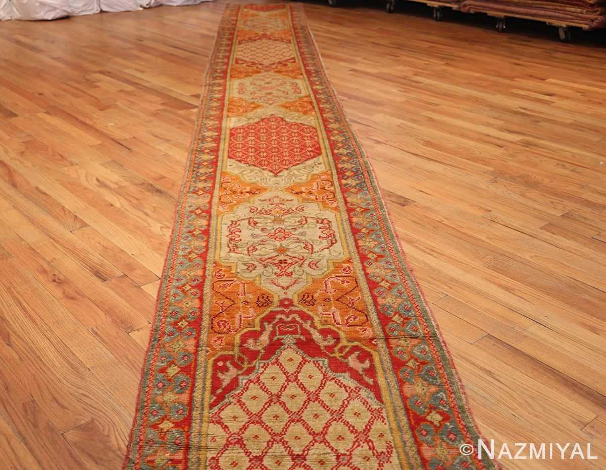 antique arts and crafts turkish oushak runner rug 48675 whole Nazmiyal