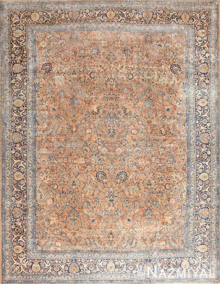 Antique Floral Persian Kerman Rug 50411 Nazmiyal