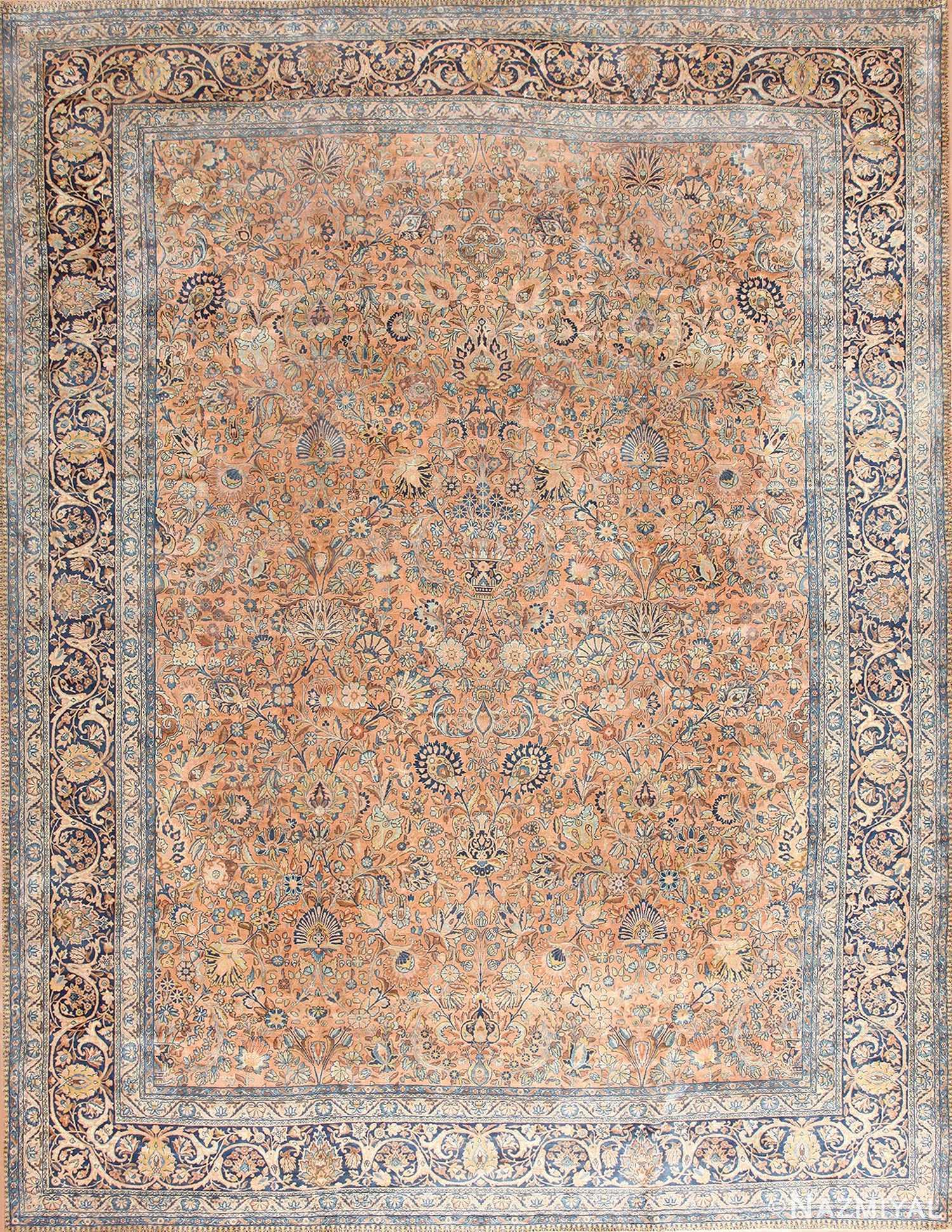 Antique Floral Persian Kerman Rug 50411 Nazmiyal