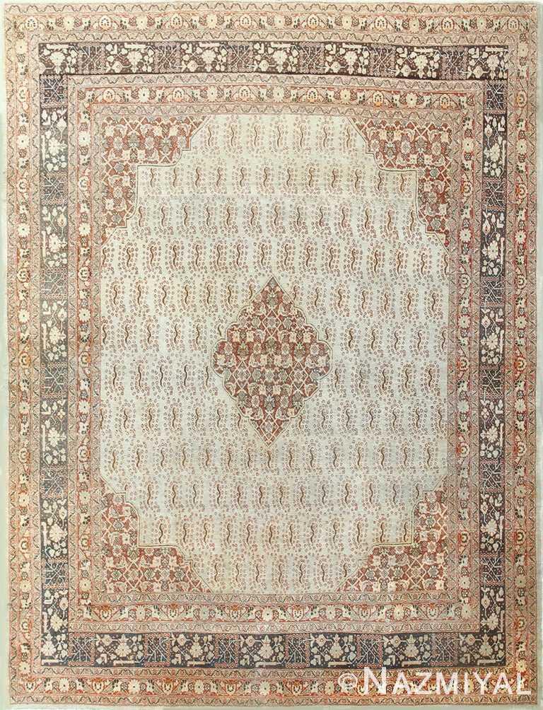 Antique Geometric Persian Tabriz Rug 50387 Nazmiyal
