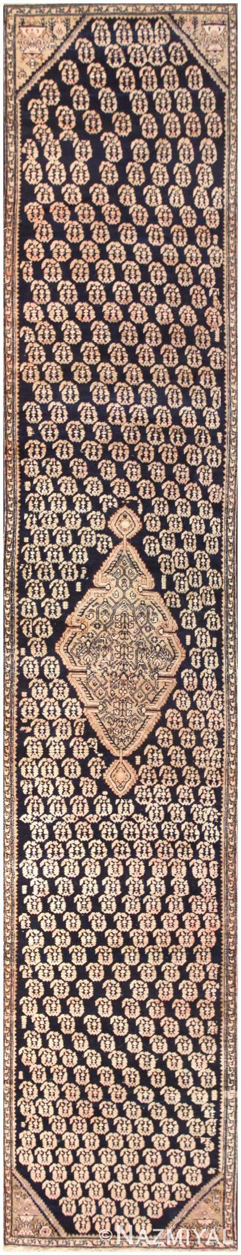 Antique Paisley Design Persian Malayer Runner Rug 50419 Nazmiyal