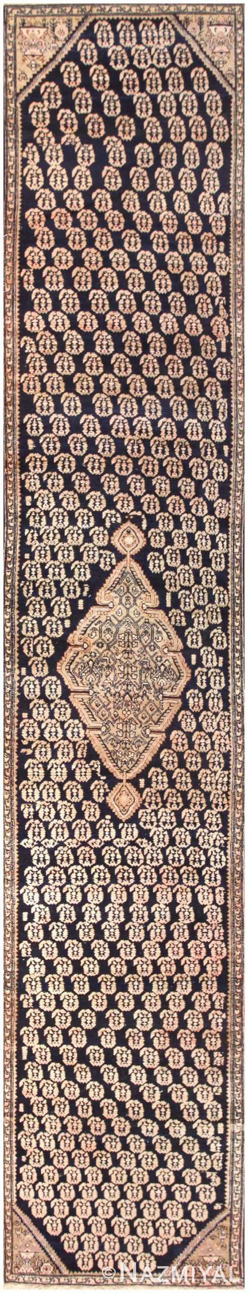 Antique Paisley Design Persian Malayer Runner Rug 50419 Nazmiyal