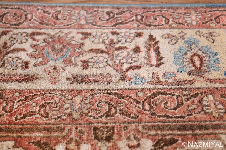 antique persian floral tabriz rug 50363 closeup Nazmiyal