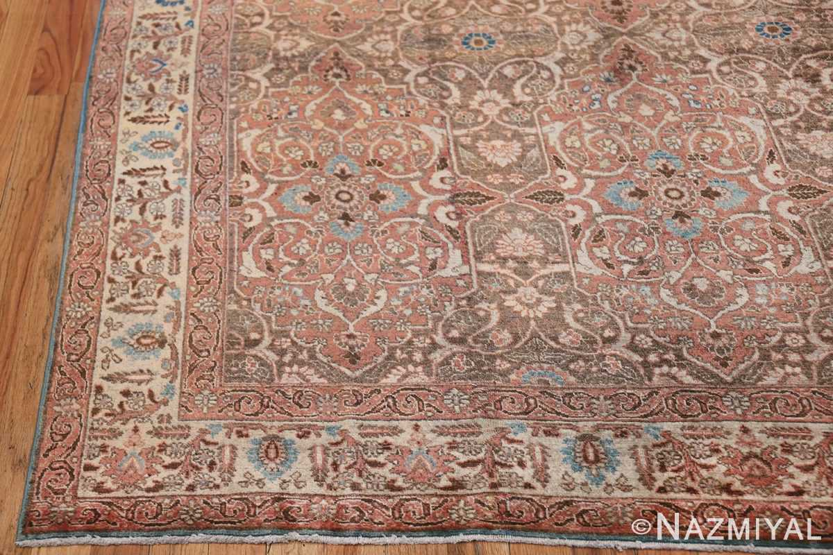 antique persian floral tabriz rug 50363 corner Nazmiyal