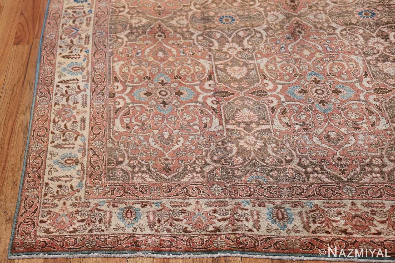 antique persian floral tabriz rug 50363 corner Nazmiyal