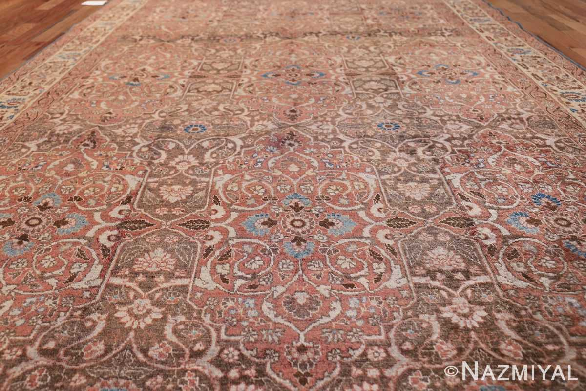 antique persian floral tabriz rug 50363 field Nazmiyal