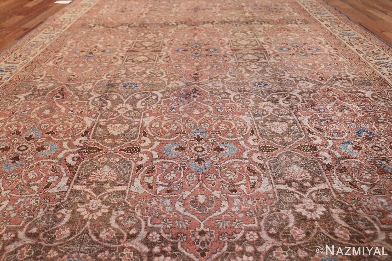 antique persian floral tabriz rug 50363 field Nazmiyal