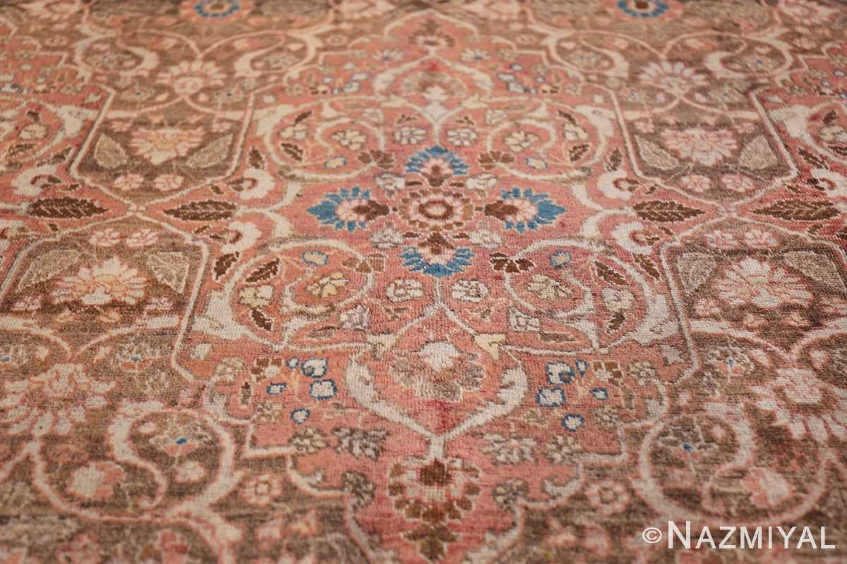 antique persian floral tabriz rug 50363 medallion Nazmiyal