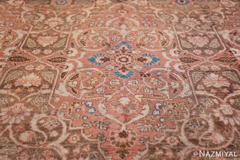 antique persian floral tabriz rug 50363 medallion Nazmiyal