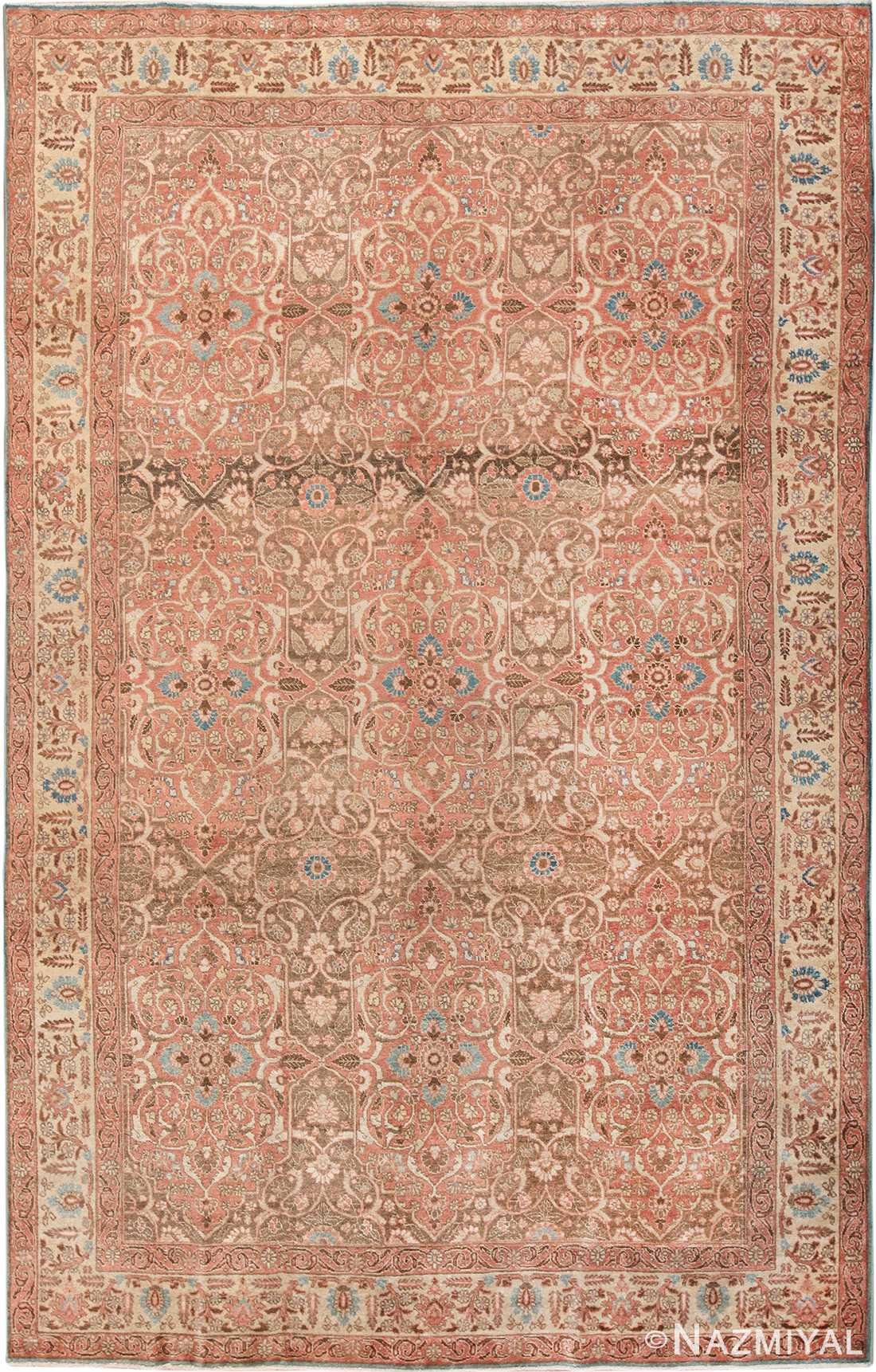 antique persian floral tabriz rug 50363 Nazmiyal