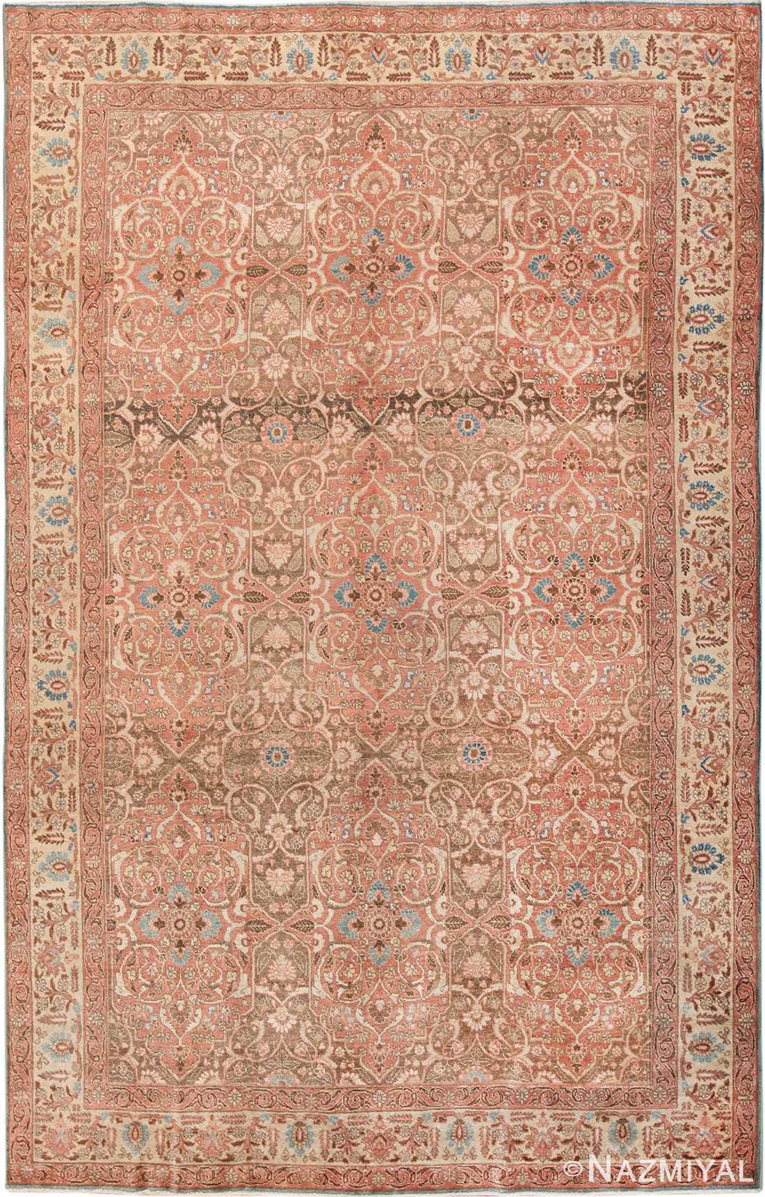 antique persian floral tabriz rug 50363 Nazmiyal
