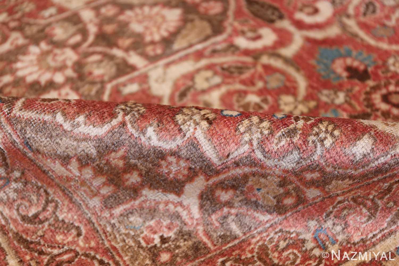 antique persian floral tabriz rug 50363 pile Nazmiyal