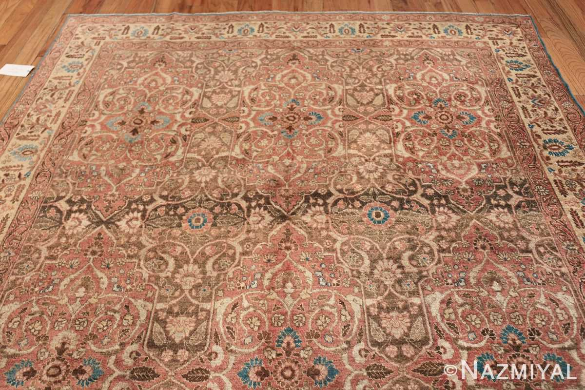 antique persian floral tabriz rug 50363 top Nazmiyal