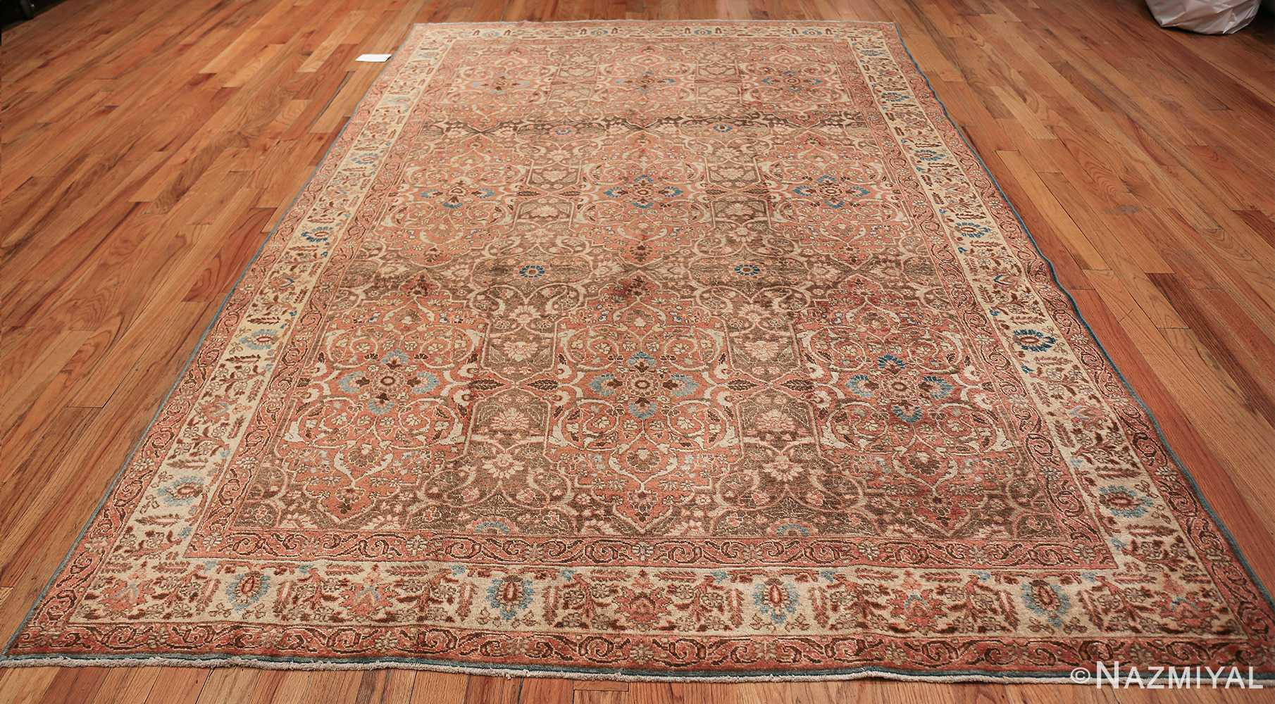 antique persian floral tabriz rug 50363 whole Nazmiyal