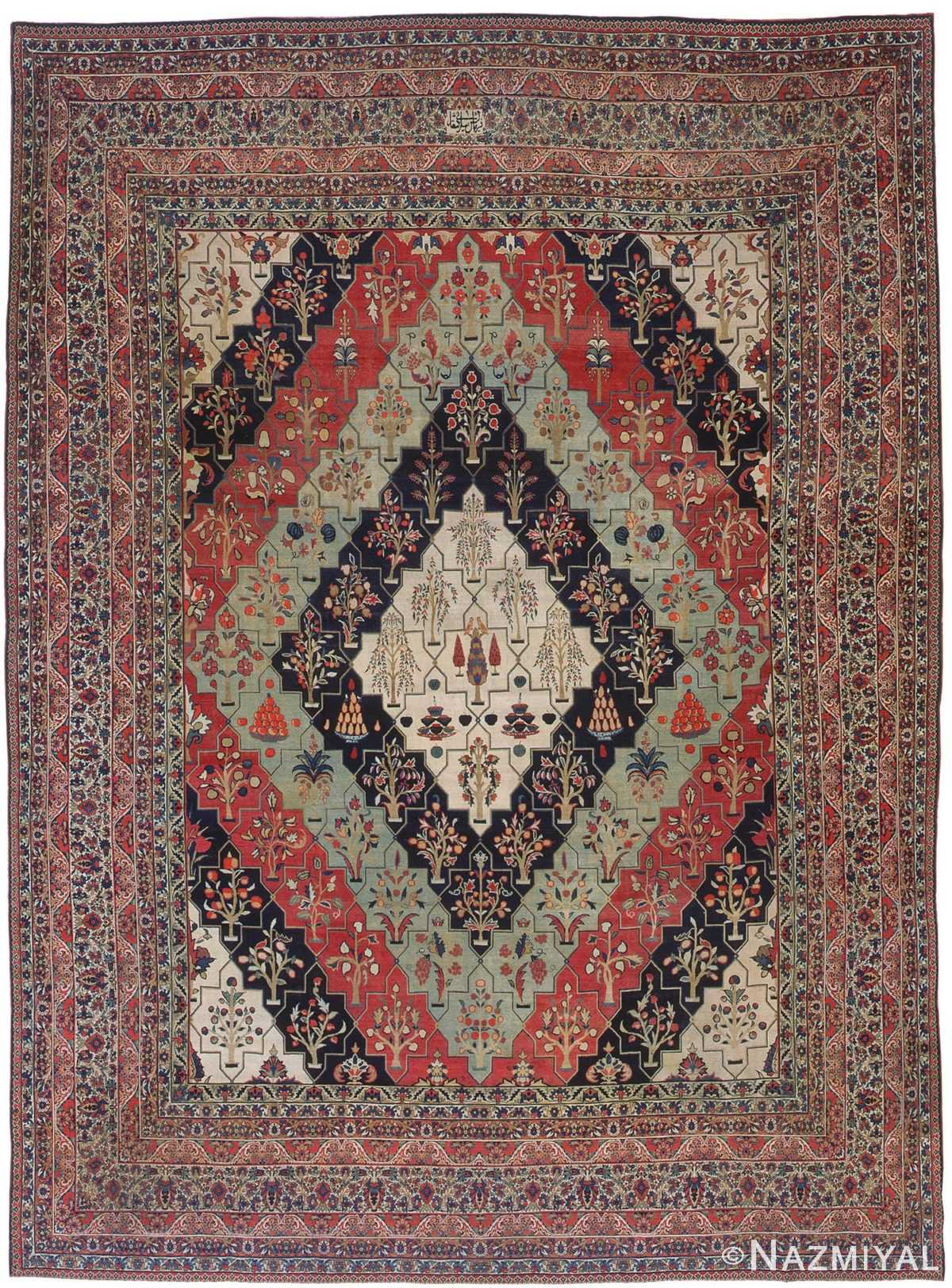 Antique Persian Kerman Rug 3403 Detail/Large View