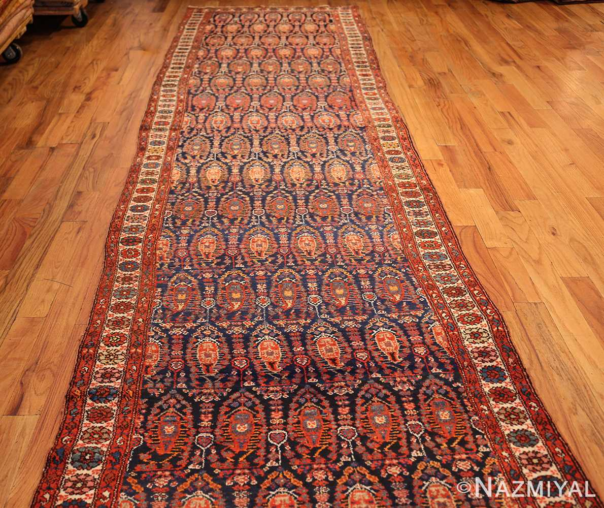 antique persian malayer hallway runner rug 50408 hole Nazmiyal