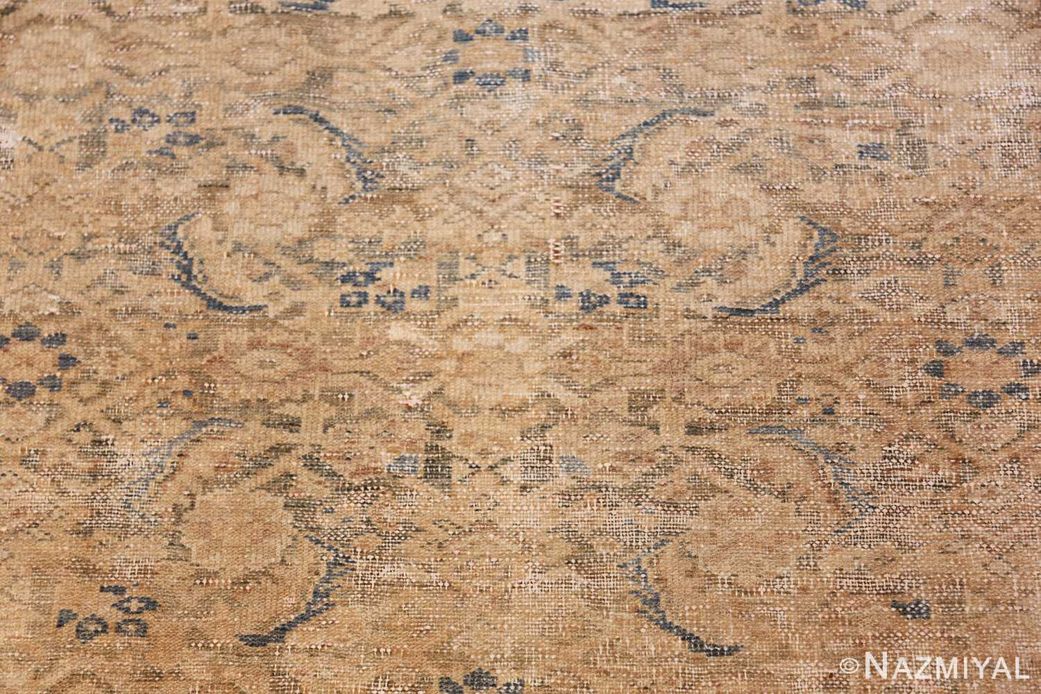 antique persian malayer shabby chic rug 50358 closeup Nazmiyal