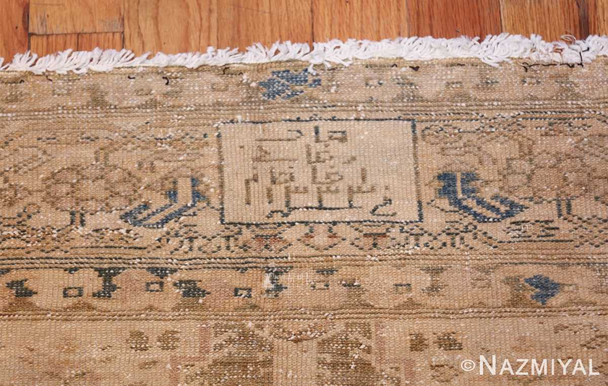antique persian malayer shabby chic rug 50358 signature Nazmiyal