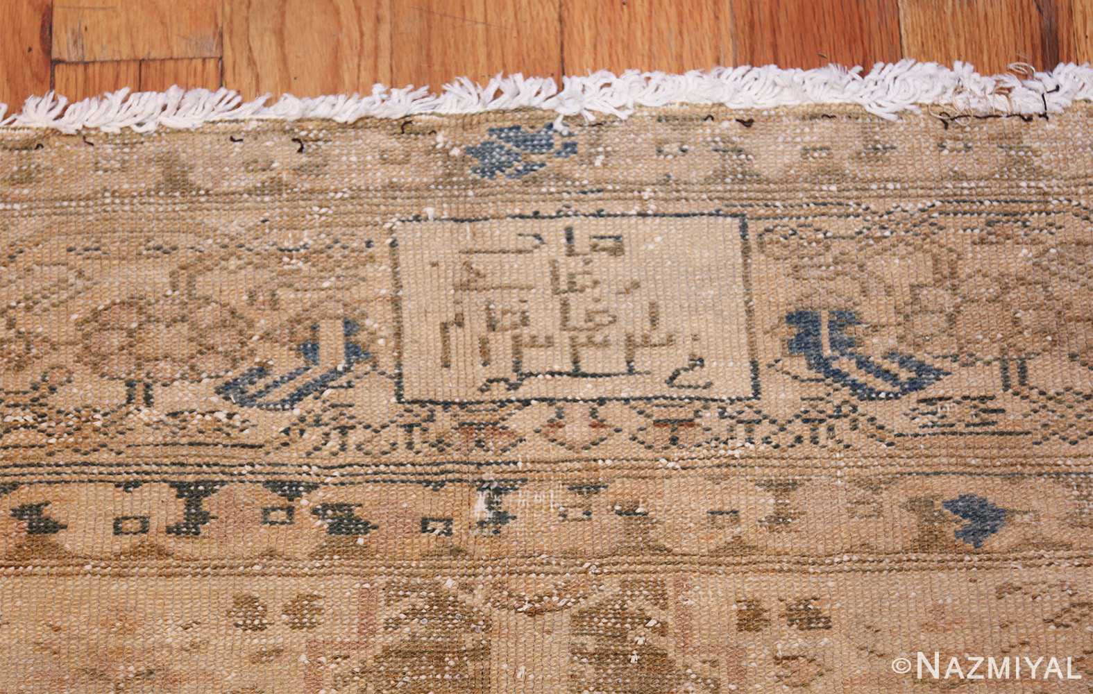 antique persian malayer shabby chic rug 50358 signature Nazmiyal