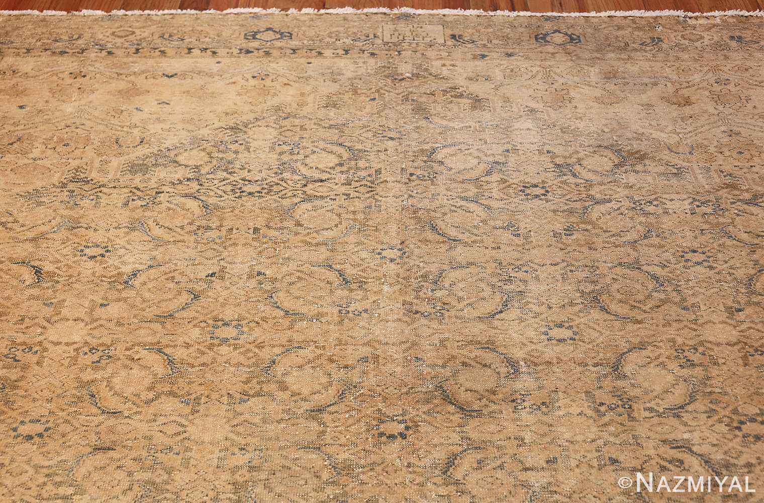 antique persian malayer shabby chic rug 50358 top Nazmiyal