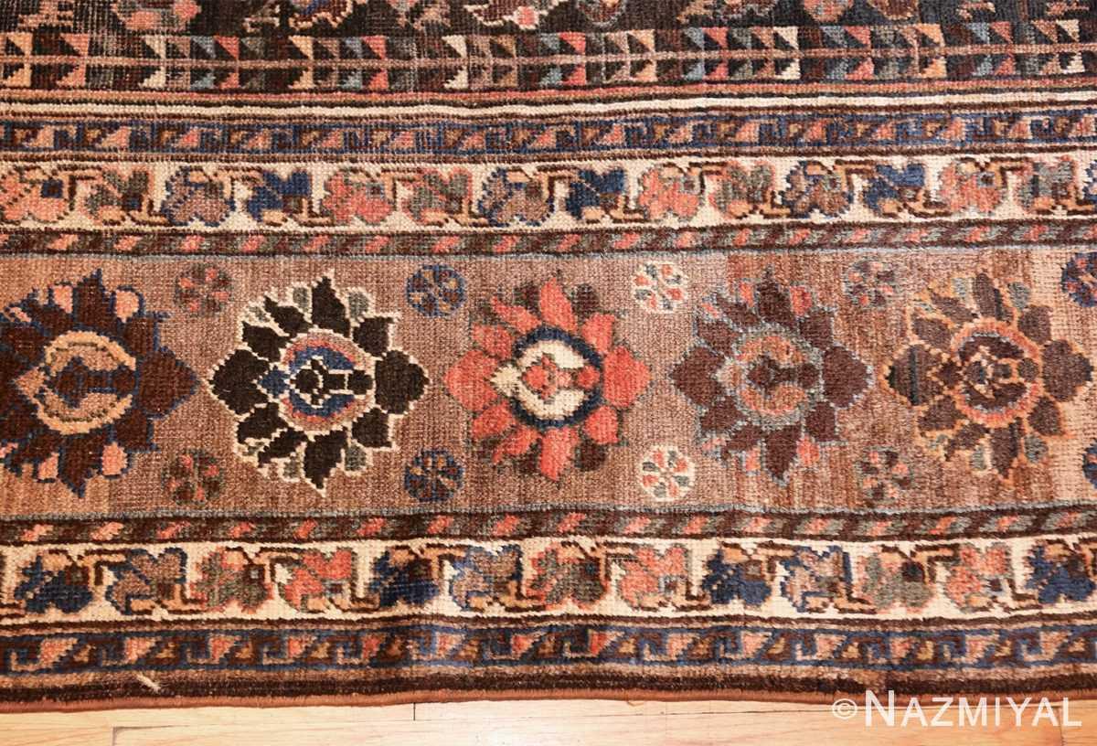 antique persian qashqai gallery size rug 50392 border Nazmiyal