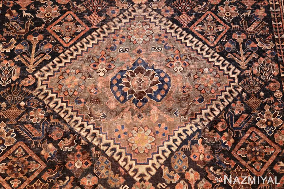 antique persian qashqai gallery size rug 50392 center Nazmiyal